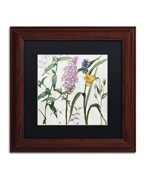"Trademark Global Color Bakery 'Softly Ii' Matted Framed Art, 11"" x 11"""