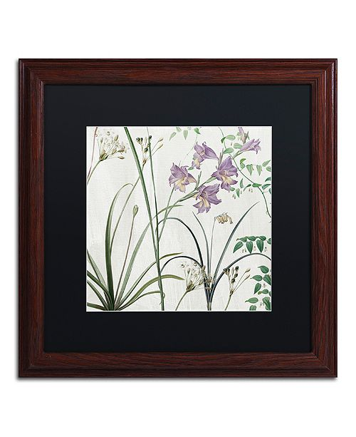 "Trademark Global Color Bakery 'Softly Iii' Matted Framed Art, 16"" x 16"""