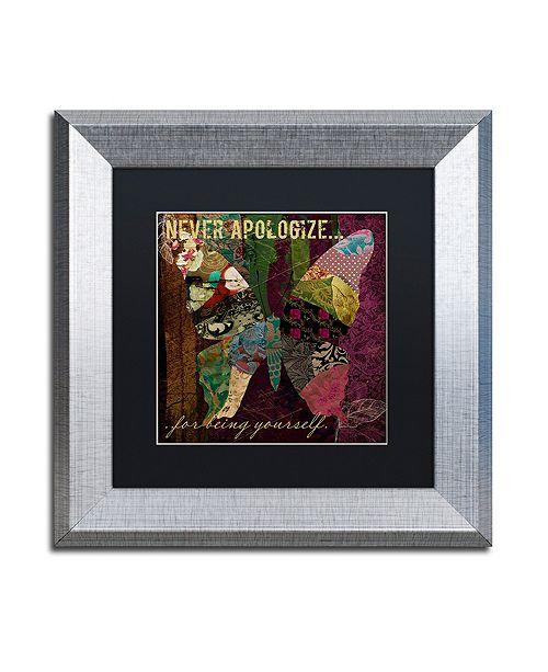 "Trademark Global Color Bakery 'Winging It Iv' Matted Framed Art, 11"" x 11"""