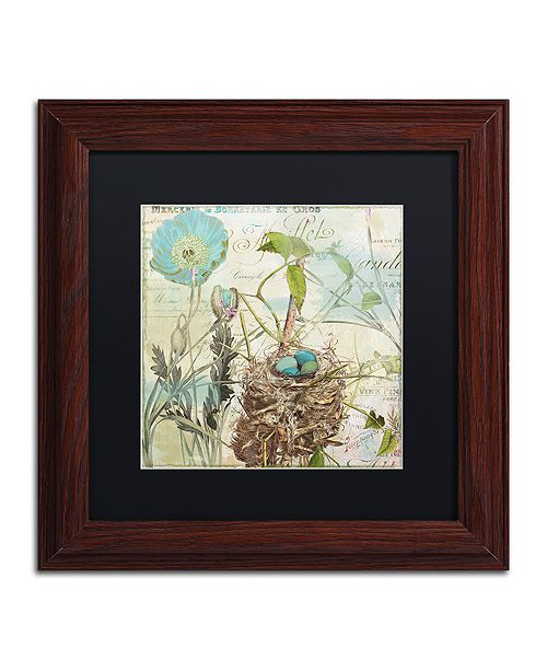"Trademark Global Color Bakery 'Nesting I' Matted Framed Art, 11"" x 11"""