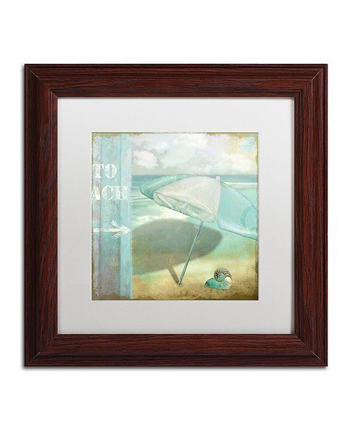 "Trademark Global Color Bakery 'By The Sea Ii' Matted Framed Art, 11"" x 11"""