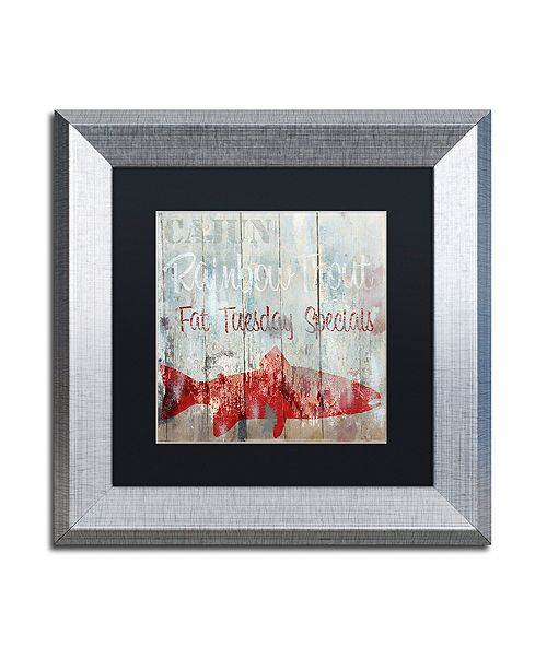 "Trademark Global Color Bakery 'New Orleans Seafood Iii' Matted Framed Art, 11"" x 11"""