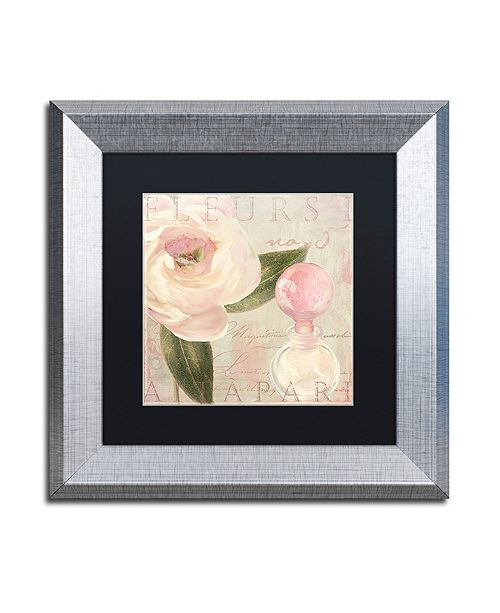 "Trademark Global Color Bakery 'Parfum De Roses I' Matted Framed Art, 11"" x 11"""