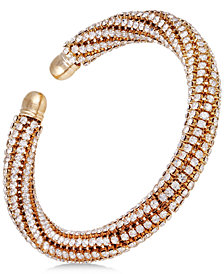 GUESS Crystal Twist Bangle Bracelet