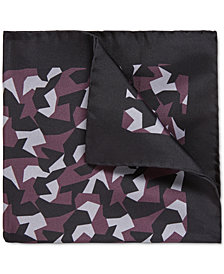 BOSS Men's Geometric Silk Pocket Square