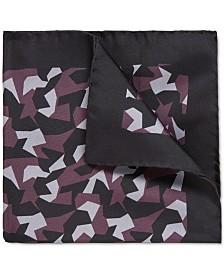 BOSS Men's Geometric Silk Pocket Square