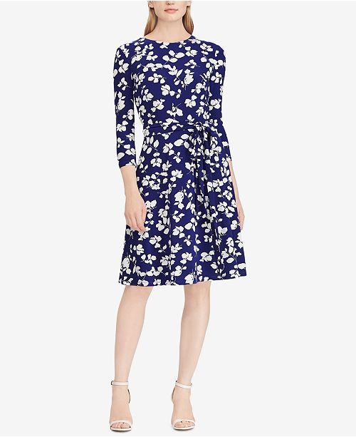 1e3df31c Lauren Ralph Lauren Floral-Print Fit & Flare Dress & Reviews ...