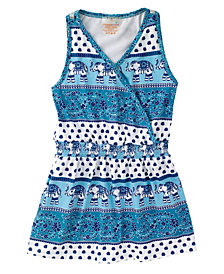 Masala Baby Girl's Acti-Play Wrap Dress Passage to India Turquoise