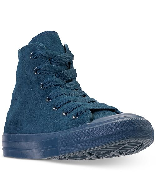 0b9ecdee61de ... Converse Unisex Chuck Taylor All Star Suede Mono Color High Top Casual  Sneakers from Finish Line ...