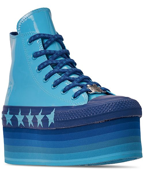 f247460870da ... Converse Women s Chuck Taylor All Star x Miley Cyrus Stacked Platform  High Top Casual Sneakers from ...