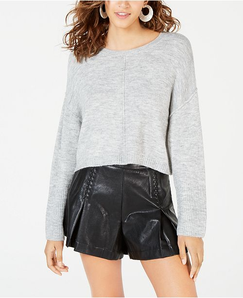 Hooked Up by IOT Juniors' Cropped Pullover Sweater