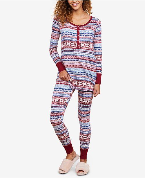 3775b00ad9971 Motherhood Maternity Pajama Set & Reviews - Maternity - Women - Macy's