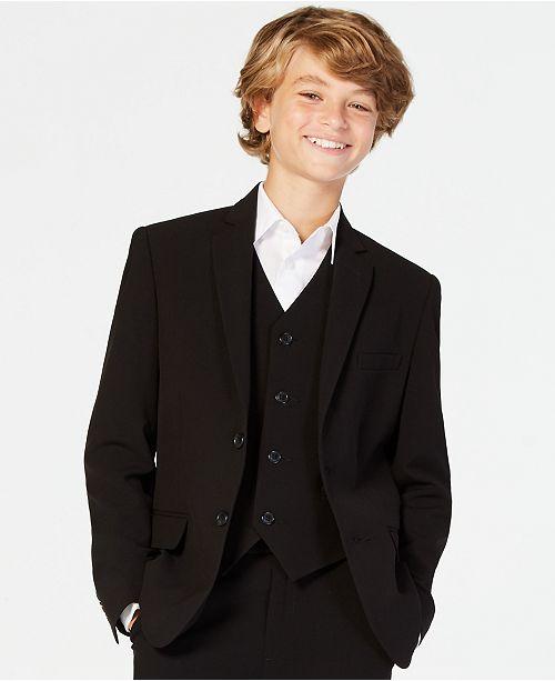 Calvin Klein Big Boys Slim Fit Stretch Suit Jacket