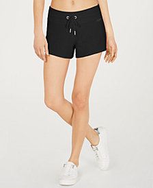 Calvin Klein Performance Curved-Hem Logo Shorts