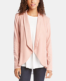 Karen Kane Open-Front Ruffled-Back Jacket