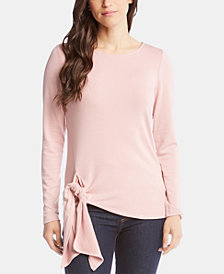 Karen Kane Tie-Front Long-Sleeve Sweater, Created for Macy's