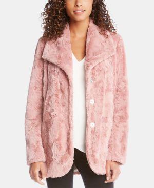Faux-Fur Coat in Petal Pink