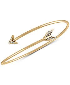 RACHEL Rachel Roy Gold-Tone Pavé Arrow Cuff Bracelet