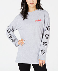 Disney by Hybrid Juniors' Minnie Mouse Long-Sleeved Graphic T-Shirt