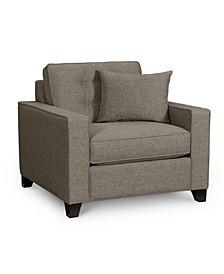 "Clarke II 40"" Fabric Armchair, Created for Macy's"