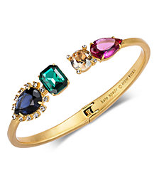 kate spade new york Gold-Tone Multi-Crystal Cuff Bracelet