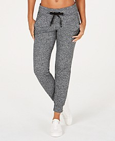 High-Rise Heathered Joggers