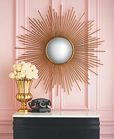 Sunburst Plain Glass Wall Mirror