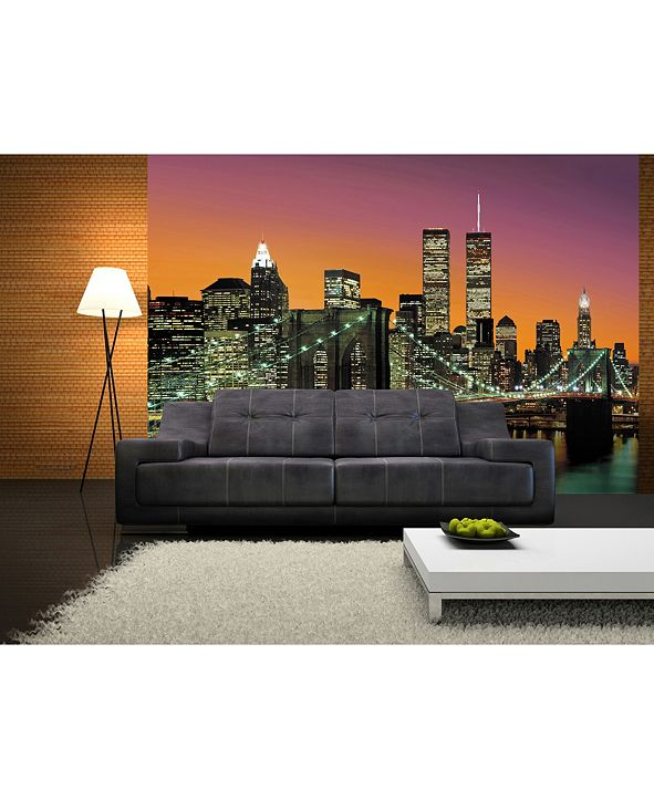 Brewster Home Fashions New York City Wall Mural