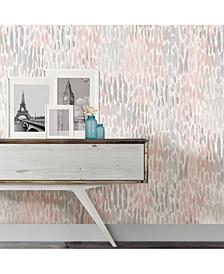Blush Make It Rain Peel And Stick Wallpaper