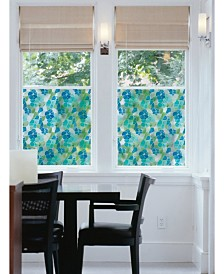 Blue And Green Stained Glass Window Film Set Of 2