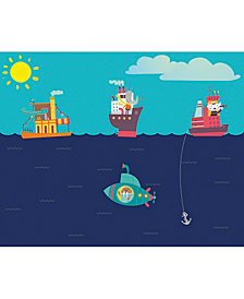 Nautical Adventures Wall Mural