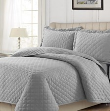Cotton Flannel Solid Oversized Quilt Set Collection