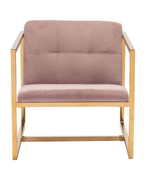 Surprising Zuo Alt Arm Chair Pink Velvet Reviews Furniture Macys Dailytribune Chair Design For Home Dailytribuneorg