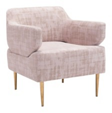 Oasis Arm Chair Pink Velvet