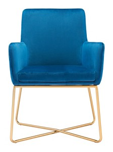 Honoria Arm Chair Dark Blue Velvet