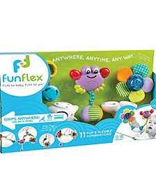 Fun Flex Best Award Winning 3-In-1 Interchangeable Infant Baby Activity Toys Set For Twin Stroller