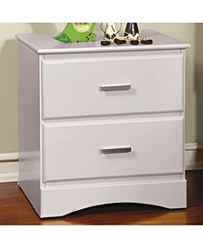 Transitional Style Night Stand, White