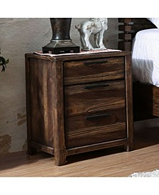 Transitional Style Night Stand, Rustic Natural Tone