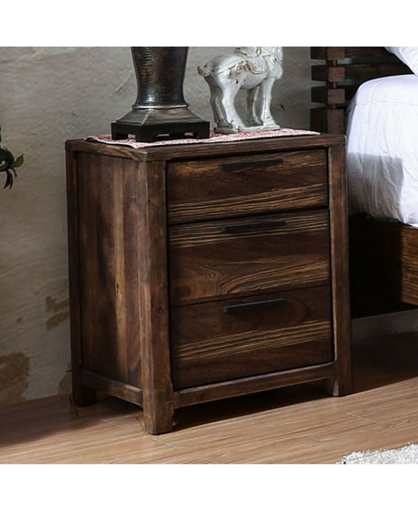 Benzara Transitional Style Night Stand, Rustic Natural Tone