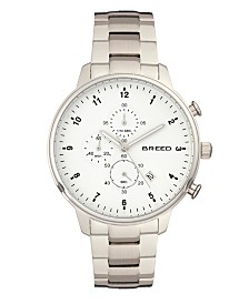 Breed Quartz Holden Chronograph Silver Alloy Watches 45mm