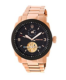 Automatic Helmsley Rose Gold & Black Stainless Steel Watches 45mm