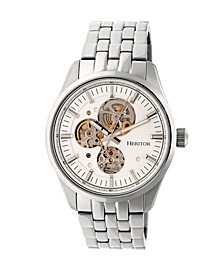 Automatic Stanley Silver Stainless Steel Watches 43mm