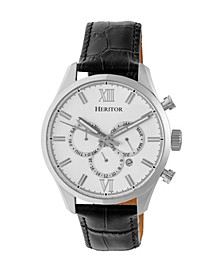 Automatic Benedict Silver Leather Watches 40mm