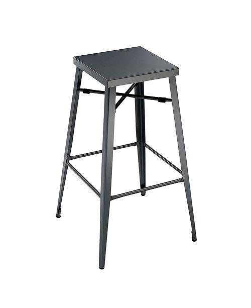Surprising Industrial Style 30 Inches Bar Stool Gun Metal Gray Set Of 2 Inzonedesignstudio Interior Chair Design Inzonedesignstudiocom