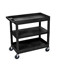 """Clickhere2shop 32"""" x 18"""" Utility Cart with Two Tub/One Flat Shelves"""