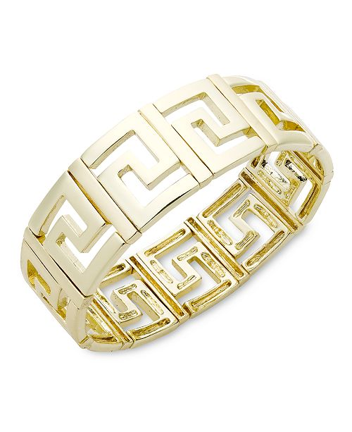 Charter Club Gold-Tone Greek Key Bangle