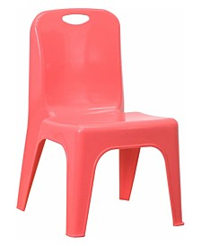Clickhere2shop Plastic Stackable School Chair with Carrying Handle