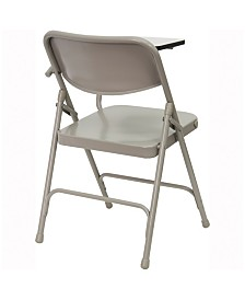 Offex Premium Steel Folding Chair with Left Handed Tablet Arm