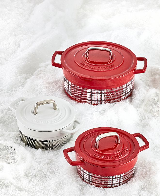 Martha Stewart Collection CLOSEOUT! Holiday Enamel Cast Iron