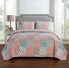 VCNY Home Anna 3-Pc. Patchwork Full/Queen Quilt Set